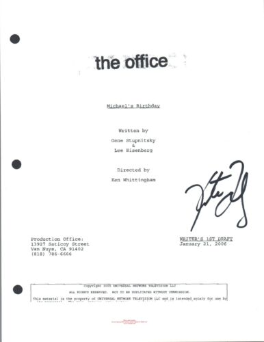 Kate Flannery Signed Autograph THE OFFICE Michael's Birthday Episode Script COA