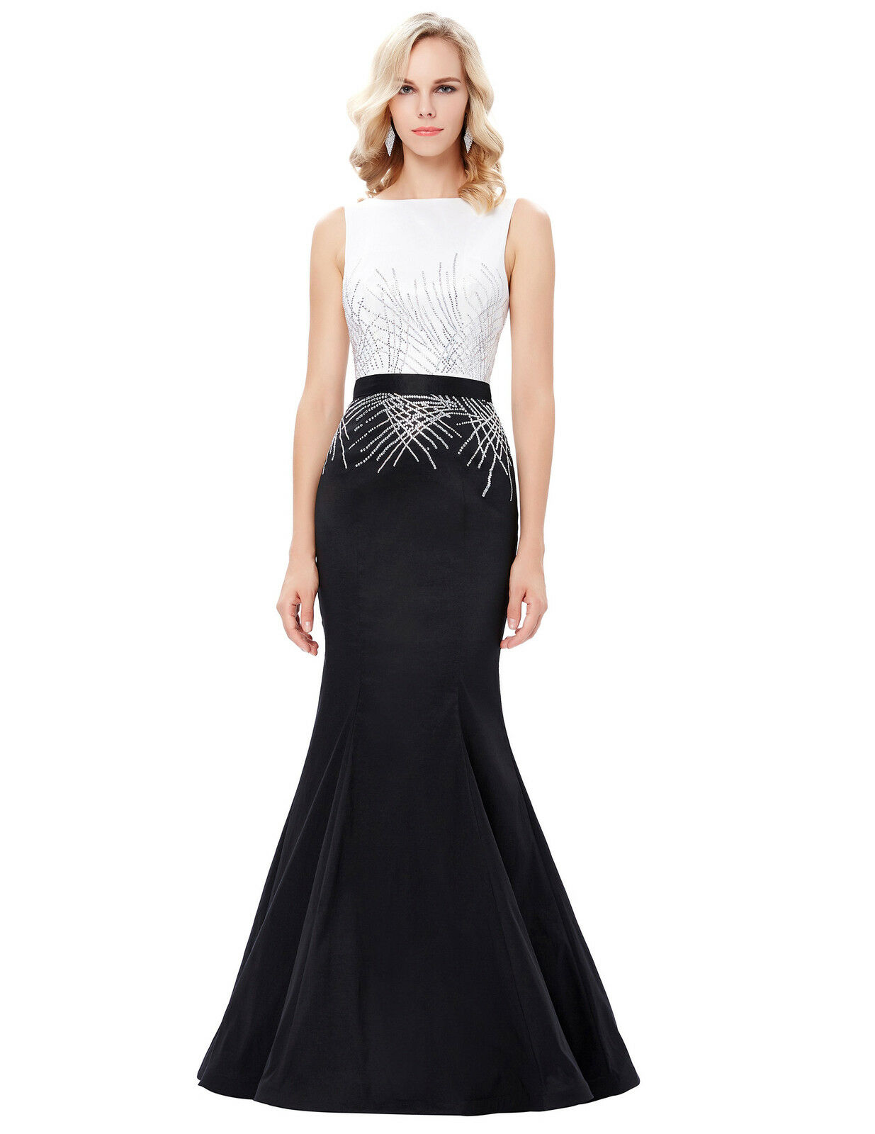 Long formal party cocktail evening prom wedding gown ball for Formal long dresses for weddings