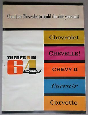 1964 CHEVROLET SALES CAT: All: Chevrolet, Chevelle, Chevy II, Corvair, Corvette