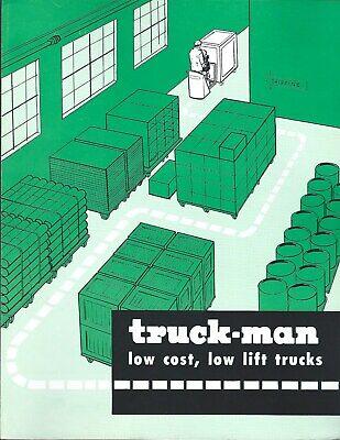 Fork Lift Truck Brochure - Truck-man - Dfp Dhp Dh Df Skid Pallet Toter Lt364