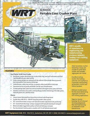 Equipment Brochure - Wrt- Xl400ioc - Portable Cone Crusher Plant - 2014 E4716