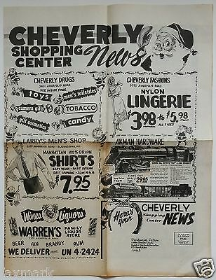 """Cheverly Shopping Center News"" December 1953 Mailer - Cheverly, MD. - Great Ads"
