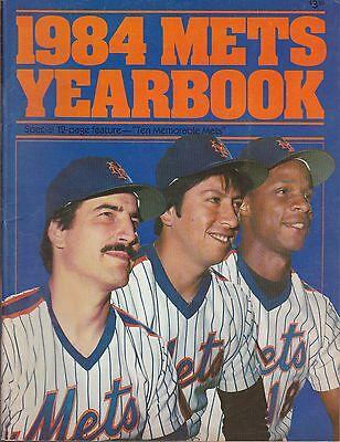 VINTAGE BASEBALL YEARBOOK- 1984 NEW YORK METS- HERNANDEZ; STRAWBERRYL OROSCO