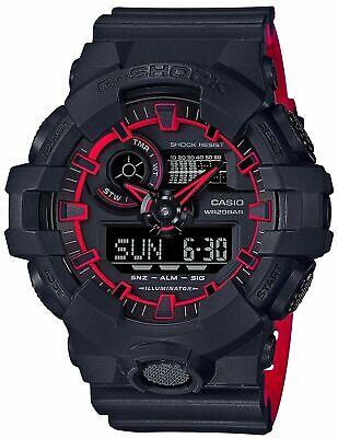 Casio G-SHOCK GA700SE-1A4 Black Red Shock-Resistant Analog Digital Men's Watch
