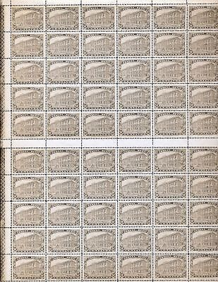 MEXICO 1923 MNH 50c Definitive 60 Stamps Sheet 2 Control Numbers DAB 201
