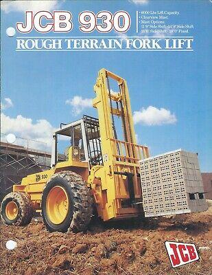 Fork Lift Truck Brochure - Jcb - 930 - Rough Terrain - C1988 Lt520