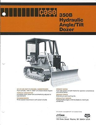 Equipment Brochure - Case 350b Hydraulic Angle Tilt Dozer And Winch C1979 E3854