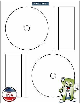 500 Cd Dvd Laser And Ink Jet Labels - Full Face Memorex Size 250 Sheets