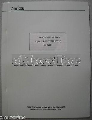Anritsu MN510 D 1 Instruction Manual, Bedienungsanleitung