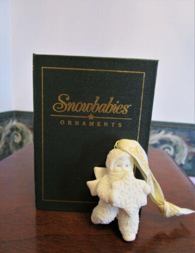 Dept. 56 Snowbabies Ornament Let It Snow XII Book Box Baby & Snowflake