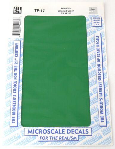 "All Scale Trim Film - Emerald Green - Microscale #TF-17 (Size: 4-1/2"" x 7-1/2"")"