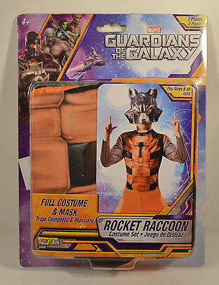 Rocket Raccoon Halloween Costume (NEW Rocket Raccoon Halloween Costume & Mask Gaurdians of Galaxy Marvel Size)