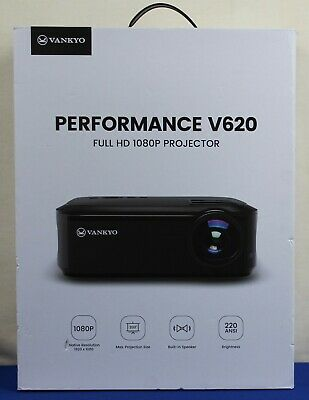 "Vankyo V620 Full HD 1080P Projector, with 6000 Lux 200"" Display NEW"