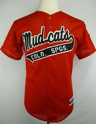 434e481aec5 Vintage Majestic Continental Amateur Association Mud Cats Baseball Jersey  Size S