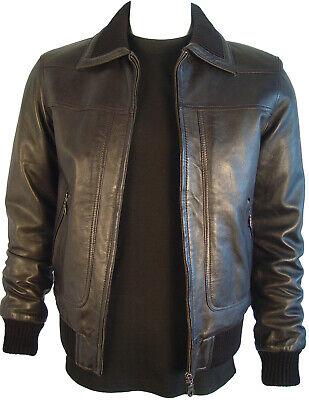 1001 Big Man Soft Leather Lamb Bomber Best Leather Jacket Basic Classic