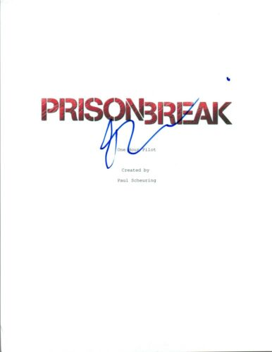Dominic Purcell Signed Autographed PRISON BREAK Pilot Episode Script COA AB