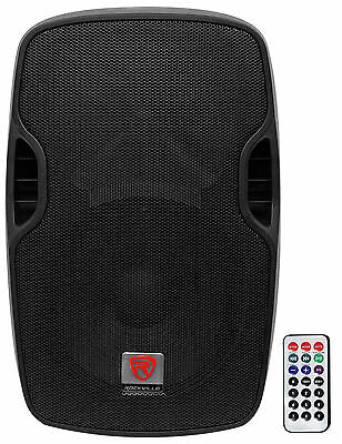 Rockville BPA12 12 Professional Powered Active 600w DJ PA Speaker w Bluetooth