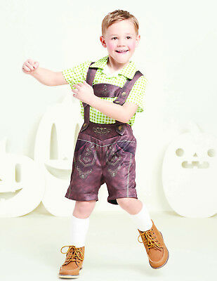 Oktoberfest Lederhosen Halloween Costume Toddler 18-24 Months 4T Child Kid Boy