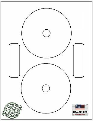 1000 Cd Dvd Laser And Ink Jet Labels - Neato Compatible Full Face 500 Sheets