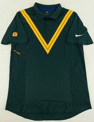88a0e0c60a NEW Nike Court RF Roger Federer Advantage Tennis Polo Shirt Size Mens  Medium M