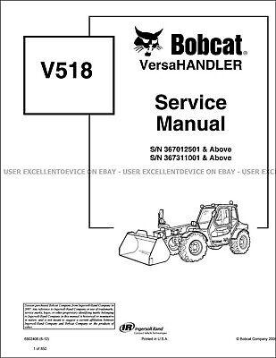 Bobcat V518 Versahandler Revision 2012 Update Printed Service Manual 6902406