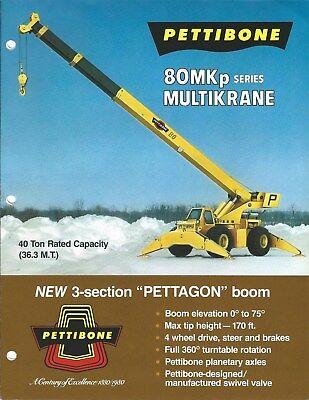Equipment Brochure - Pettibone - 80mkp Series - Boom Crane - C1980 E4784