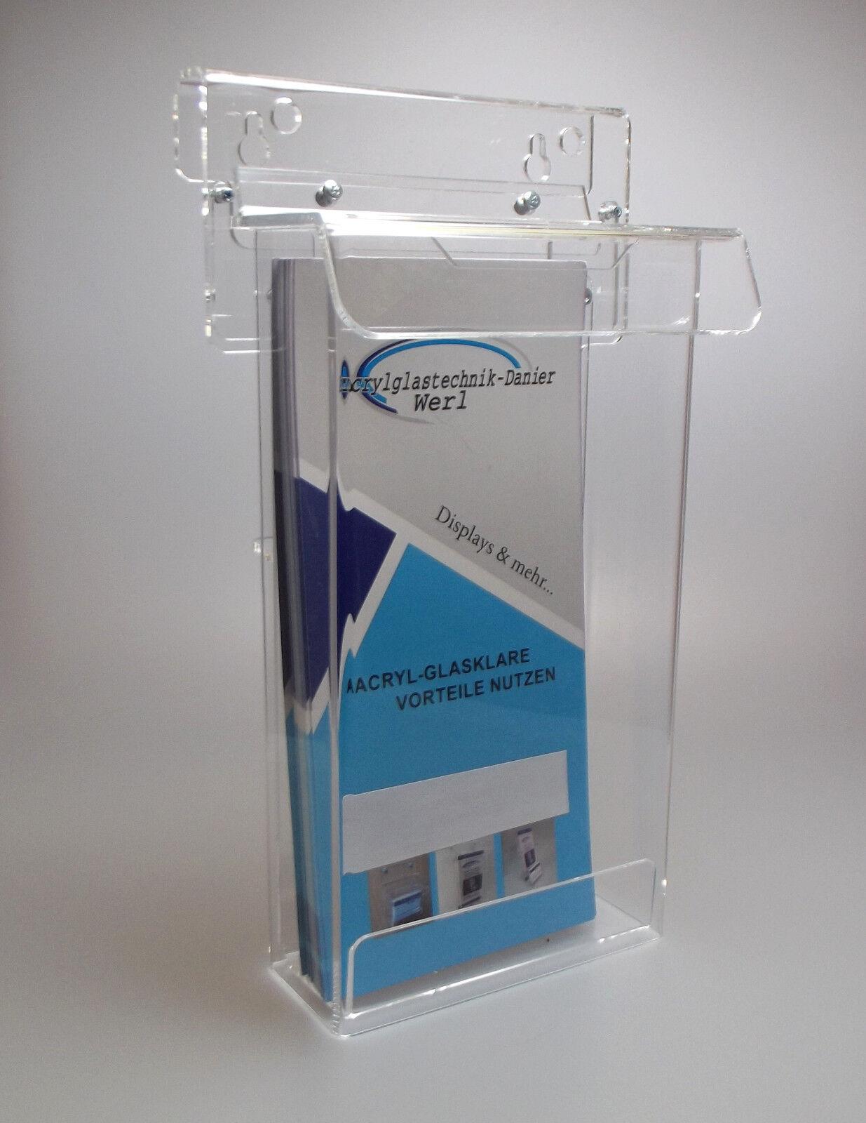 DIN Lang Prospekthalter/Flyerhalter/Prospektbox mit Deckel für Außen,wetterfest