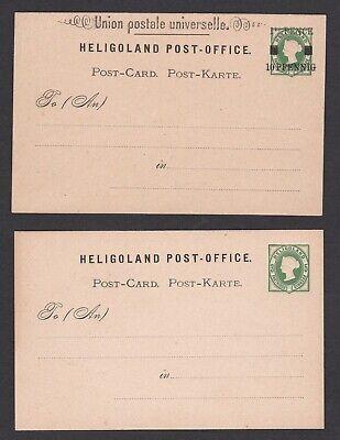 Heligoland. Two Postal Stationary Cards.