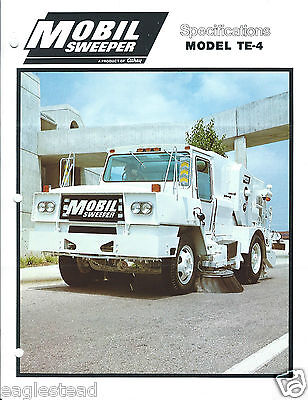 Equipment Brochure - Athey - Te-4 - Mobil Street Sweeper - C1982 E3135