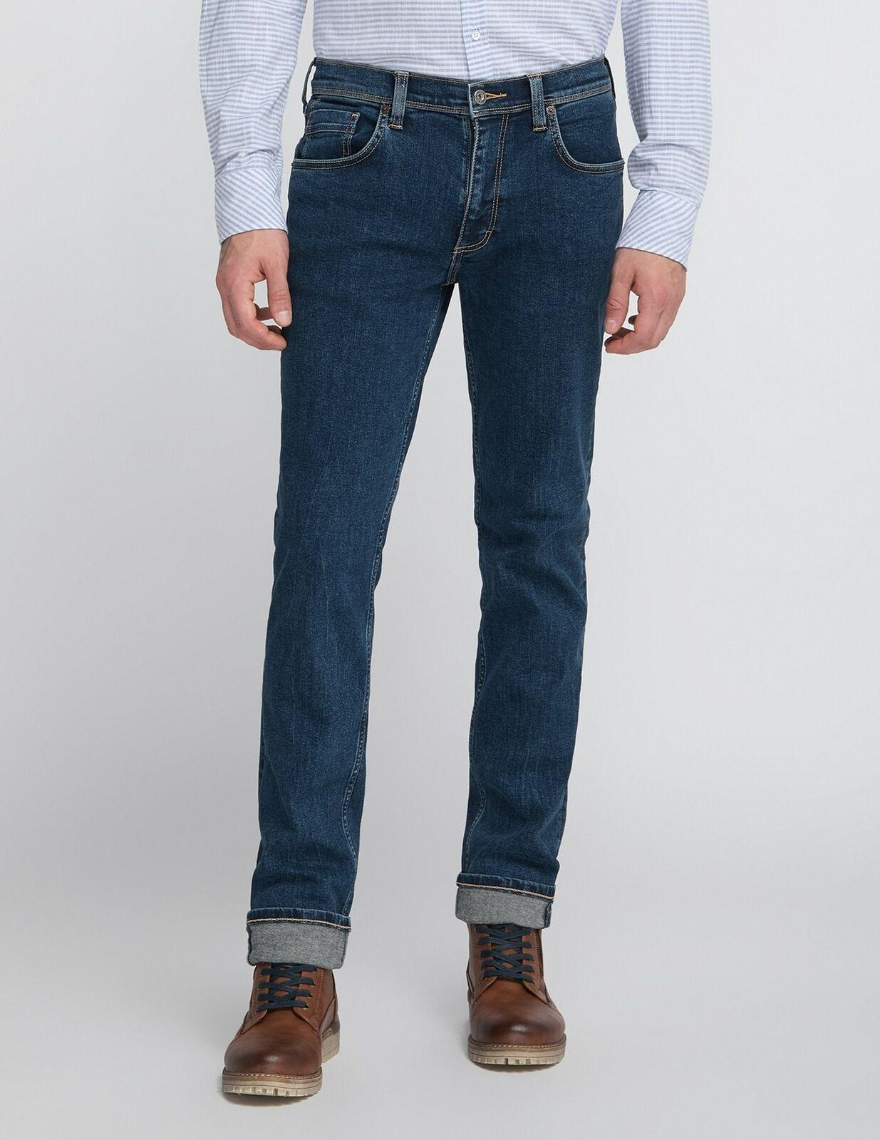Mustang Washington Herren be flexible Jeans, Länge: L38 / L40 / Used Optik