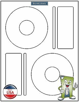 200 Cd Dvd Laser And Ink Jet Labels Compatible To Memorex 100 Sheets Large Core