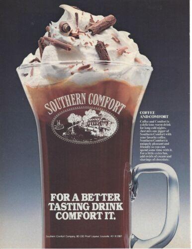 "Southern Comfort 1987 Original Print Ad 9 x 11"" Playboy Magazine 80s"