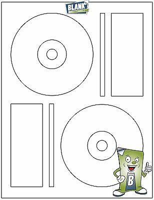 200 CD DVD Laser and Ink Jet Labels - Fits Full Core Memorex Size! 100 Sheets!