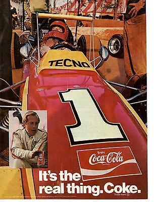 1971 COCA-COLA / COKE  ~  FORMULA ONE RACING  ~  CLASSIC ORIGINAL PRINT AD