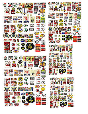 1: 24 1:32 1:43 Vintage Gas Station Decals For Diecast & Model Cars & Dioramas