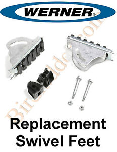 Werner 26 2 Replacement Shoe Feet Kit Aluminum Extension