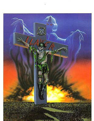 """SLAYER 1990's NINETIES VINTAGE POSTCARD 8""""x10"""" ORIGINAL REFLEX POSTCARD"""