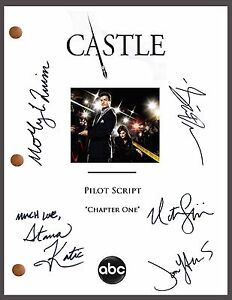Castle-Signed-TV-Pilot-Script-by-5-Nathan-Fillion-Stana-Katic-Seamus-Dever