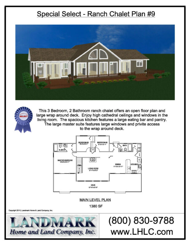 Chalet Lumber New Home House Kit 3 Bedrooms 2 Bath Ranch