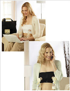 MEDELA-EASY-EXPRESSION-BUSTIER-HANDS-FREE-PUMPING-BRA-Free-Ship-New