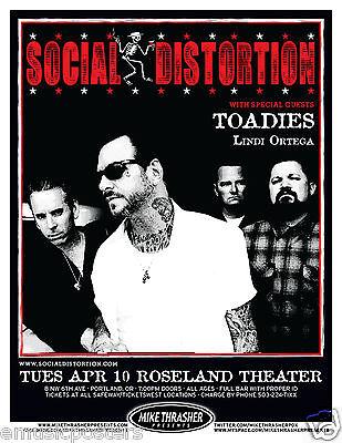 SOCIAL DISTORTION/TOADIES 2012 PORTLAND CONCERT TOUR POSTER-Punk Rock, Mike Ness
