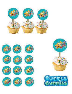 Bubble Guppies 1 Cupcake Picks / Cupcake Toppers/cake Topper 1 Dozen Picks