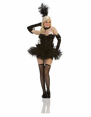 BLACK SWAN burlesque goth movie dress womens adult sexy halloween costume LARGE](Black Swan Costumes)