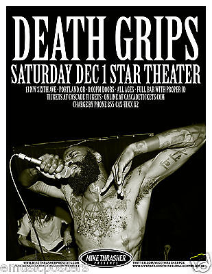 DEATH GRIPS 2012 PORTLAND CONCERT TOUR POSTER -Alternative Hip-Hop Music