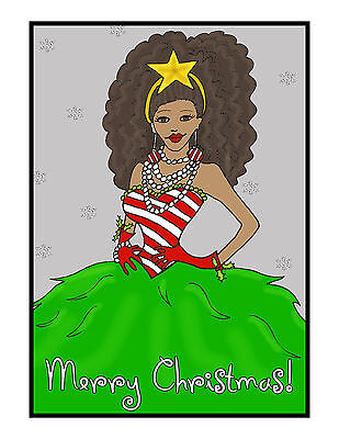 African American Fashion Diva Christmas Holiday Cards Unique