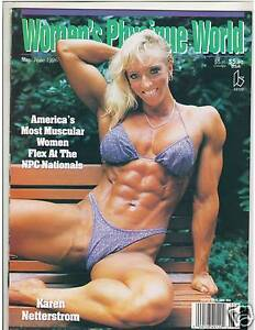 Women's Physique World Female Bodybuilding Muscle Mag Karen Netterstrom 6-96