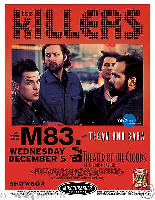 THE KILLERS /M83./ TEAGAN & SARAH 2012 PORTLAND CONCERT POSTER - Brandon Flowers