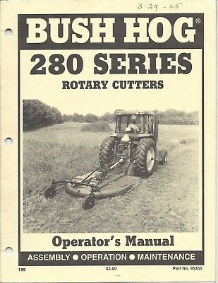 Bush Hog Model 280 Series Operator Manual 95355