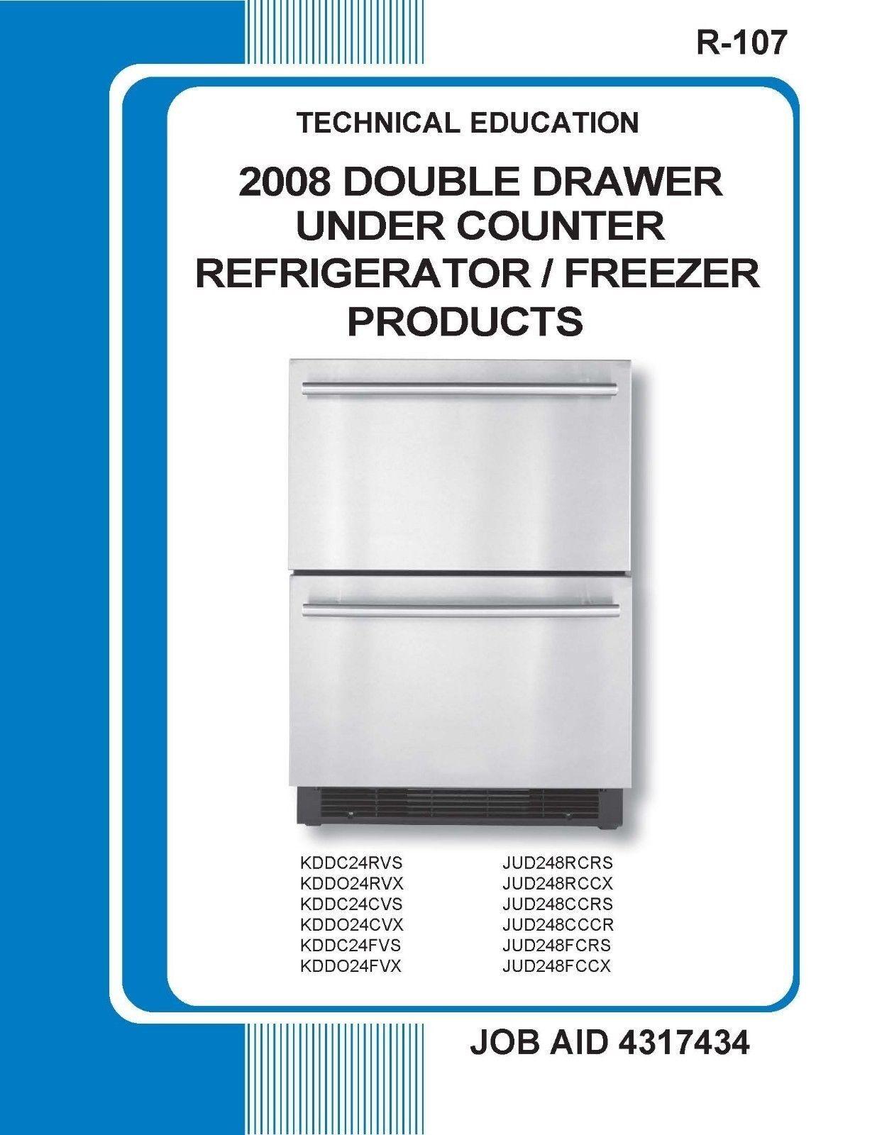 Repair Manual  Kitchenaid Refrigerators  Choice Of 1