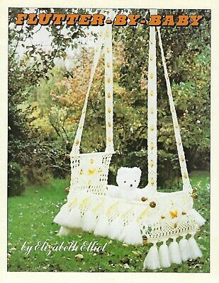 Flutter-By-Baby Swing Cradle Vintage Macrame Pattern Leaflet Instructions for sale  Shipping to India